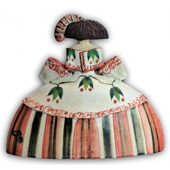 Menina ceramic figure by Rosa Luis Elordui, model M-1 Red Dress