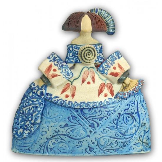 Figura de cerámica Menina de Rosa Elordui, modelo M-9 Vestido Azul