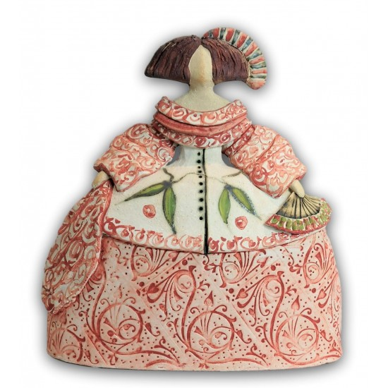 Ceramic Menina by Rosa Luis Elordui model M-18 Pink Dress