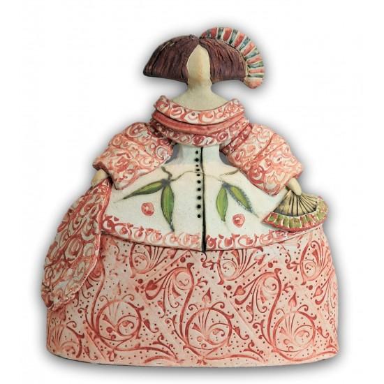Menina de cerámica de Rosa Luis Elordui modelo M-18 Vestido Rosa