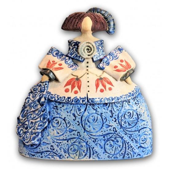 Menina de cerámica de Rosa Luis Elordui modelo M-18 Vestido Azul