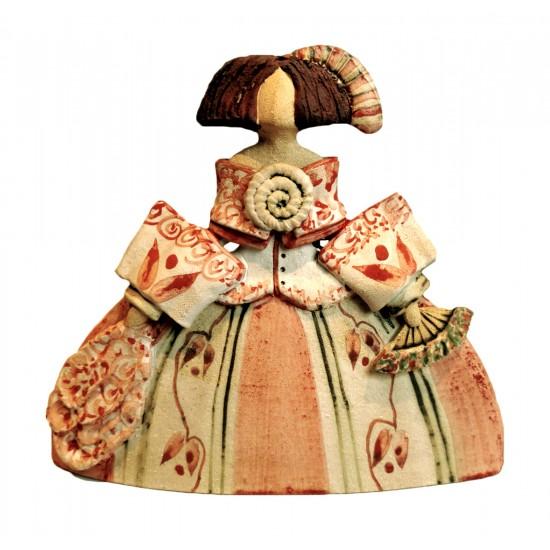 Ceramic figure of Rosa Elordui Menina M-8 Red Dress
