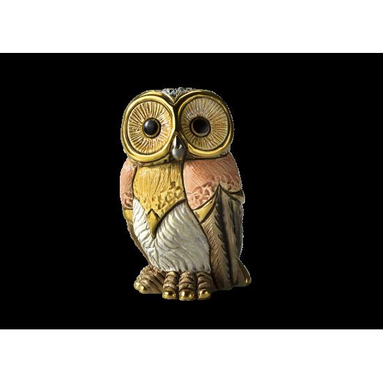 Figura de cerámica de un búho