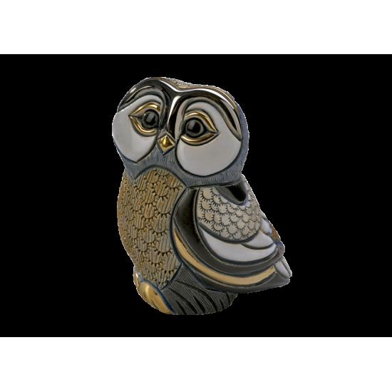 Figura de cerámica de polluelo de búho Tawny