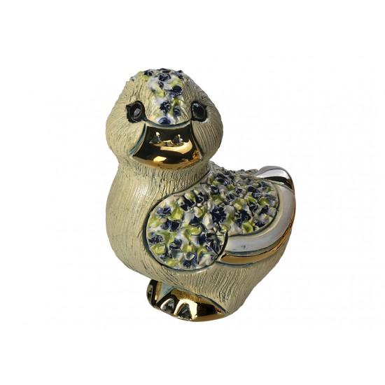 Figurine en céramique d'un caneton