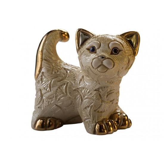 Figurine en céramique d'un petit chat