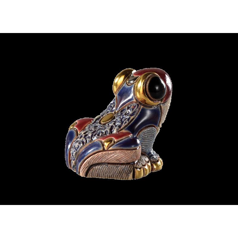 Figura de cerámica de una rana punto de flecha