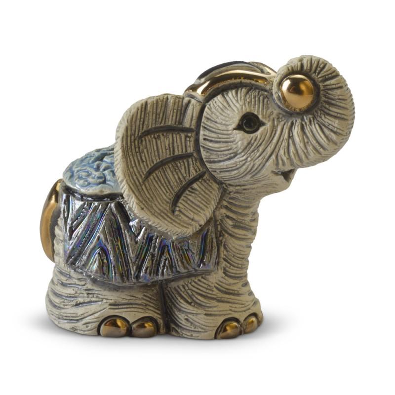 Figura de cerámica de un elefante