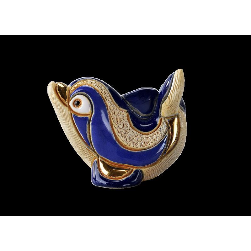 Figura de cerámica de un delfin