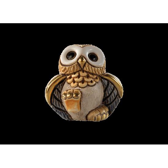 Figura cerámica Lechuza Mini de la firma De Rosa