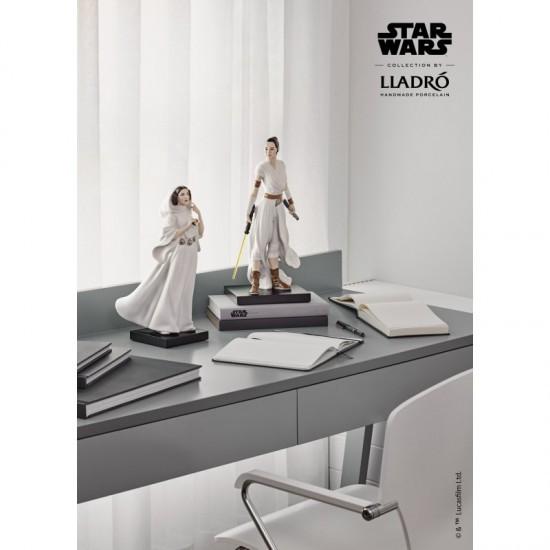 Figura porcelana Lladró_Star Wars Rey y Princesa Liea