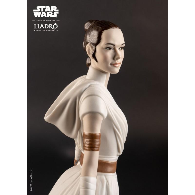 Lladró porcelain figure_Star Wars Rey_face detail