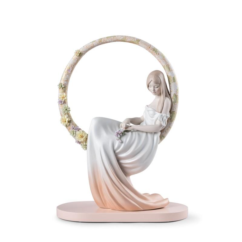 Figura de porcelana Lladró En sus pensamientos