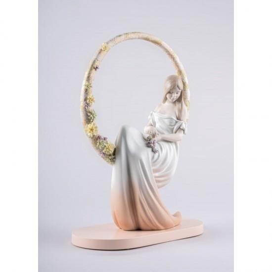 Figura de porcelana Lladró En sus pensamientos_perfil