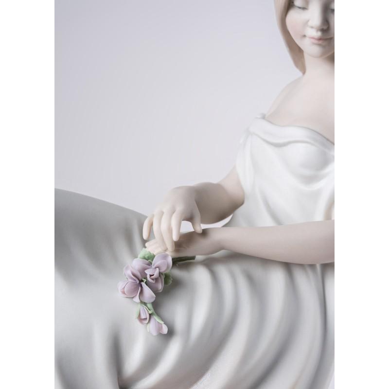 Figura de porcelana Lladró En sus pensamientos_detalle cara