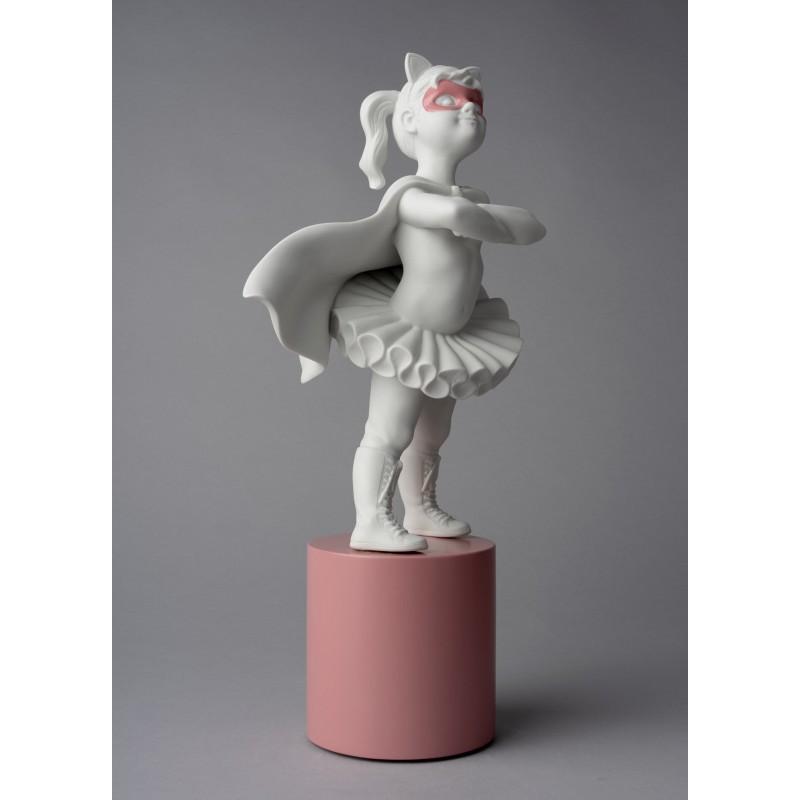 Lladró porcelain figurine Girl I am a superheroine_profile