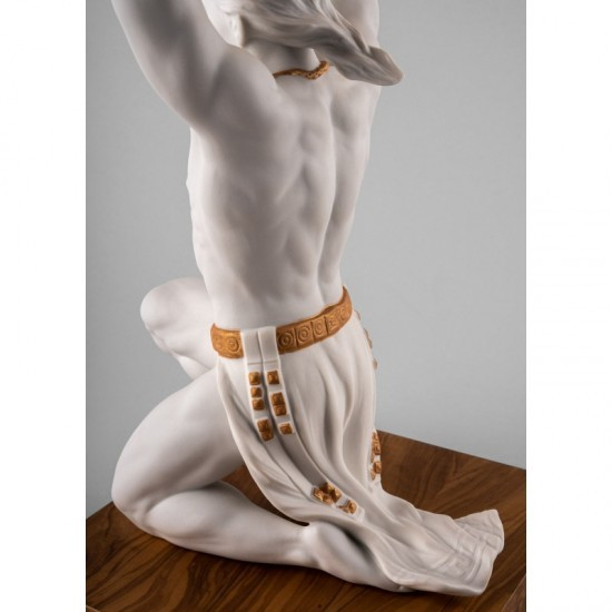Lladró Atlas porcelain figurine_back detail
