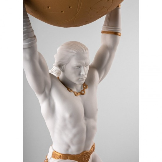 Lladró Atlas porcelain figurine_detail torso