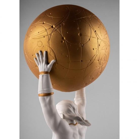 Lladró porcelain figurine Atlas_detail