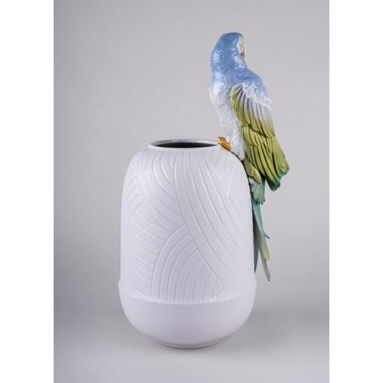 Jarrón de porcelana Lladró Guacamayo