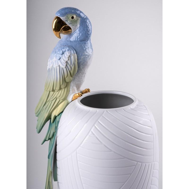 Lladró Macaw porcelain vase_profile 2