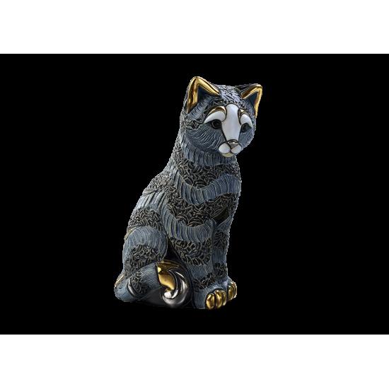 Figure céramique d'un chat. Fait à la main.