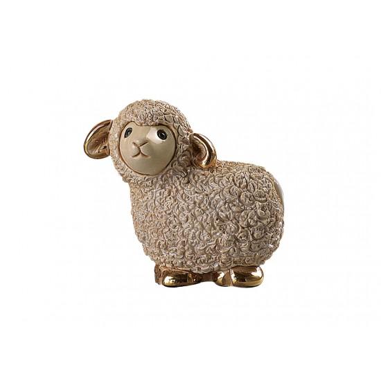Figure en céramique d'un mouton. Fait à la main.