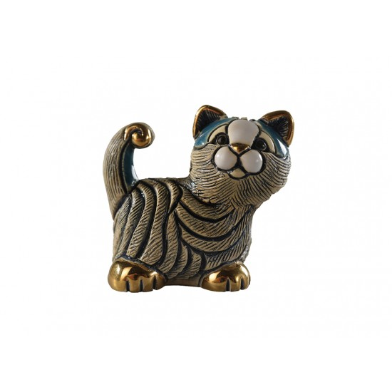 Ceramic figure of a kitten. Handmade.