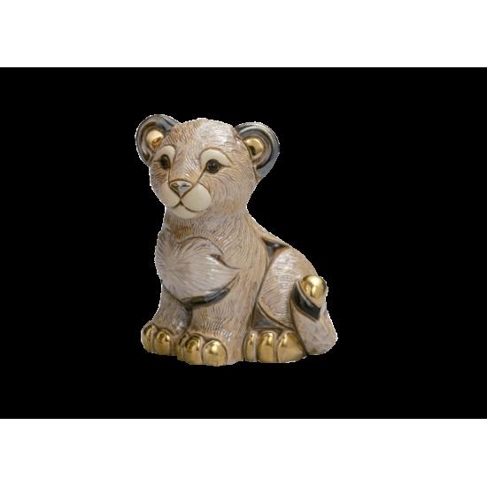 Leon cachorro de cerámica. Animales de cerámica De Rosa