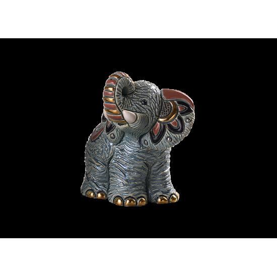 Elefante gris baby de cerámica. Animales de cerámica De Rosa