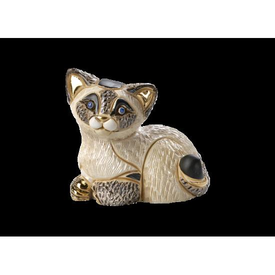 Gato siamés (cachorro) de cerámica. Animales de cerámica De Rosa