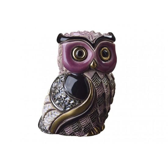 Long-eared owl. Ceramic Animals De Rosa