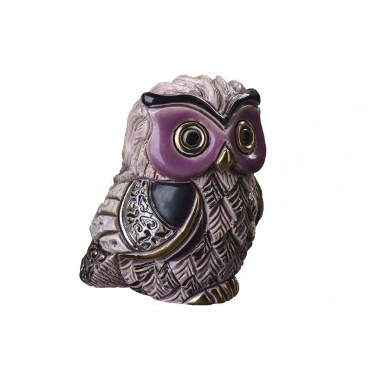 Long-eared owl chick. Ceramic Animals De Rosa