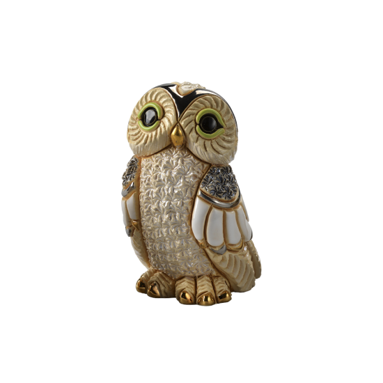 Winter owl. Ceramic Animals De Rosa
