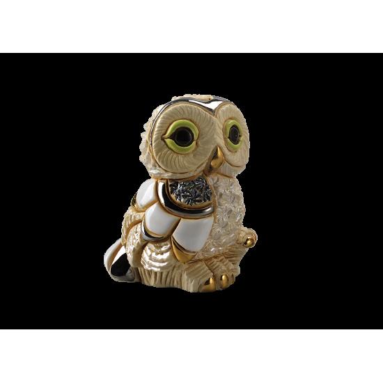 Winter owl chick. Ceramic Animals De Rosa