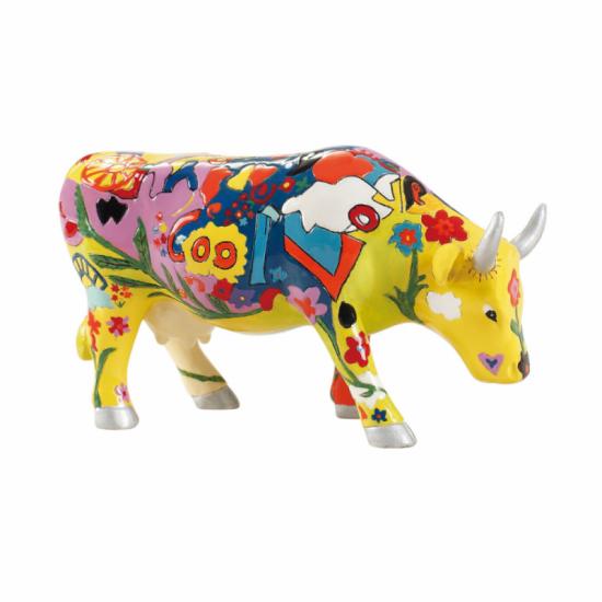 Groovy Moo vaca de de CowParade de la Isla de Man. Figuras de collección