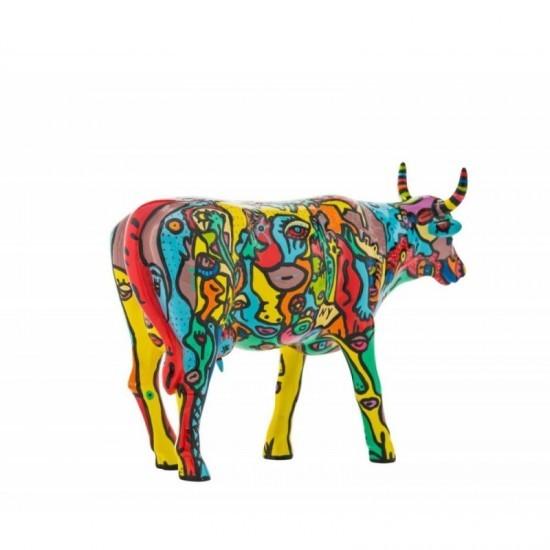 Moo York Celebration vaca de de CowParade de New York City_detrás