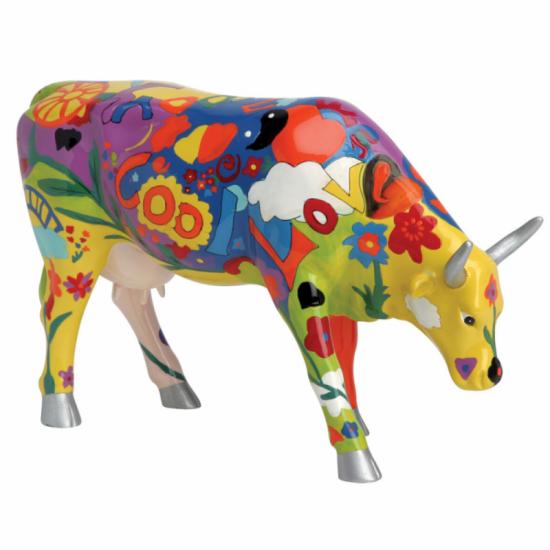Vaca Picowso's Moosicians de CowParade_pintada a mano