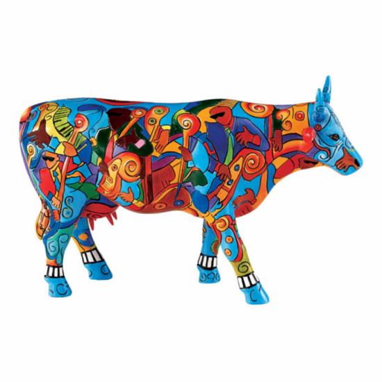 Music-cow Extravaganza vaca de CowParade_pintada a mano