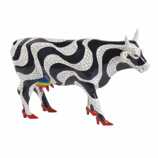 Paraíso Tropical vaca de CowParade_pintada a mano