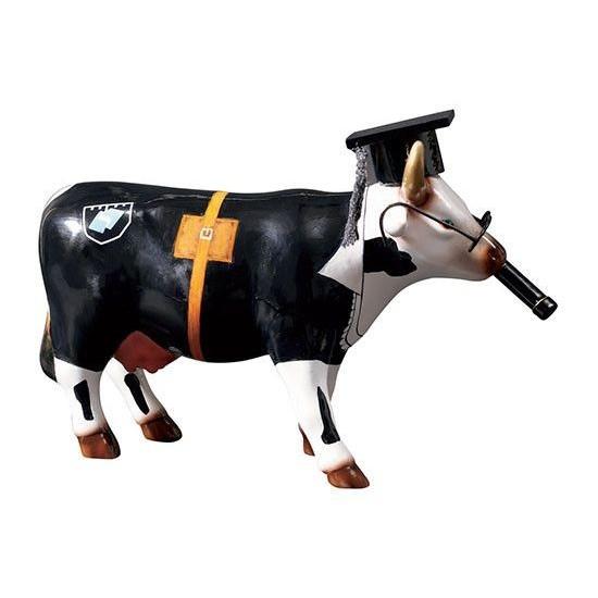 Cow Doutora vaca de CowParade de Rio de Janeiro. Figuras de collección