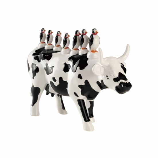 Vaca Transporte Coletivo de CowParade de San Paulo