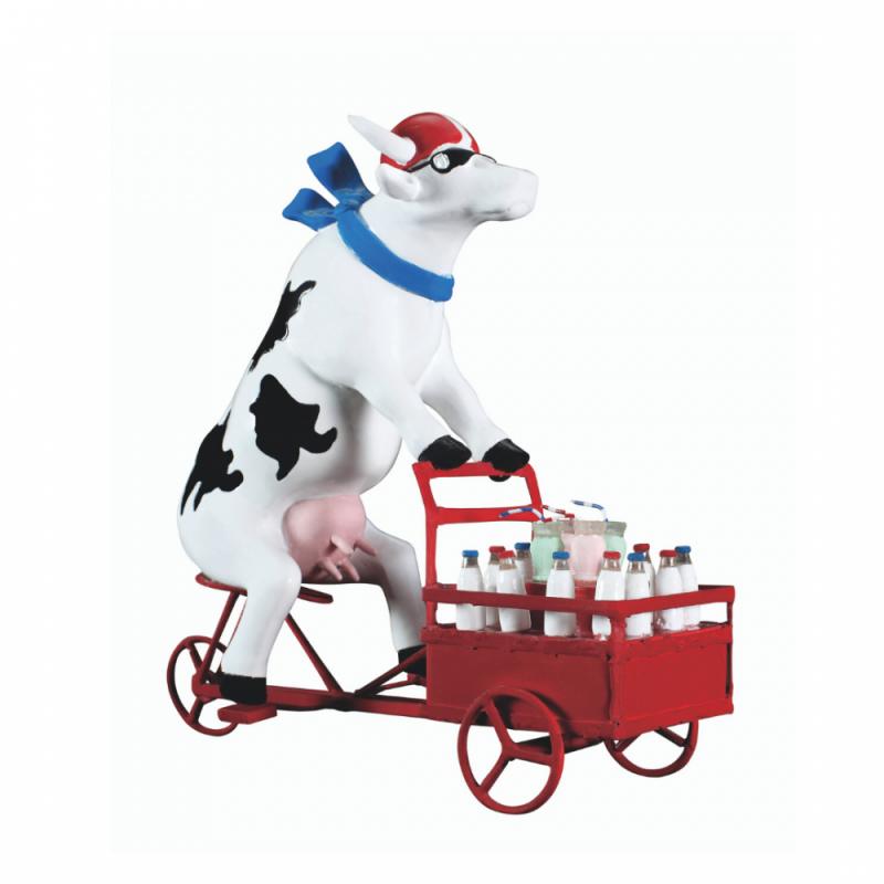 Vaca Lait Triporteur de CowParade de Paris