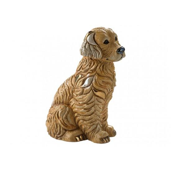 Ceramic sculpture of Golden retriever
