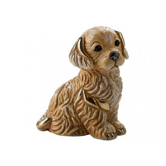 Ceramic sculpture of Golden retriever puppy