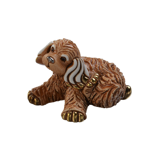 Cocker spaniel puppy. Ceramic sculpture