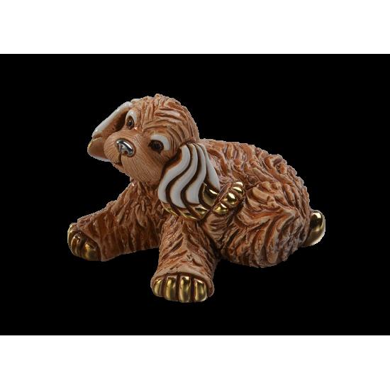 Figura de cerámica de un Cachorro de Cocker spaniel