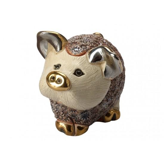 Pink pig. Ceramic sculpture