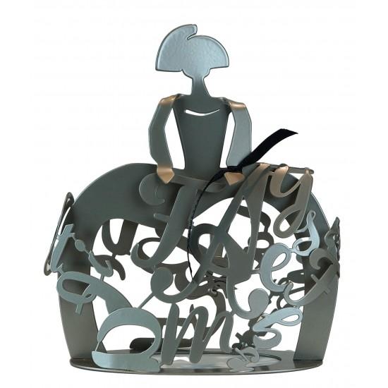 Sculpture Menina Forjasport Silver finish
