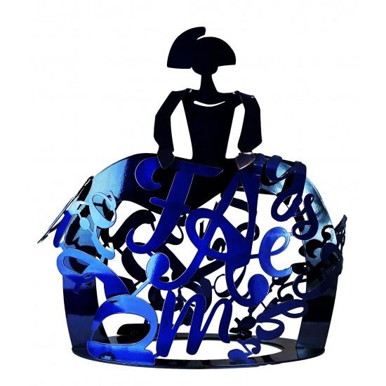 Sculpture Menina Forjasport blue